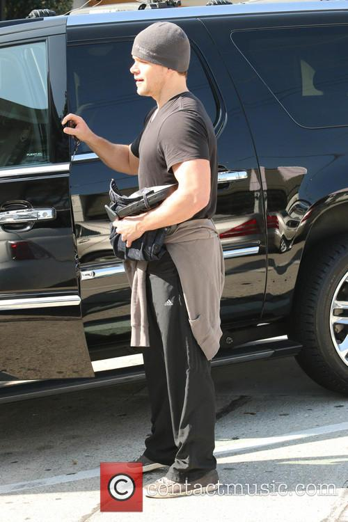 Matt Damon leaving the gym