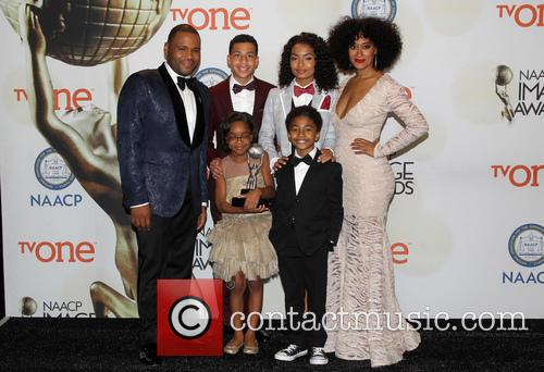 Anthony Anderson, Tracee Ellis Ross, Marcus Scribner, Marsai Martin, Miles Brown and Yara Shahidi 2