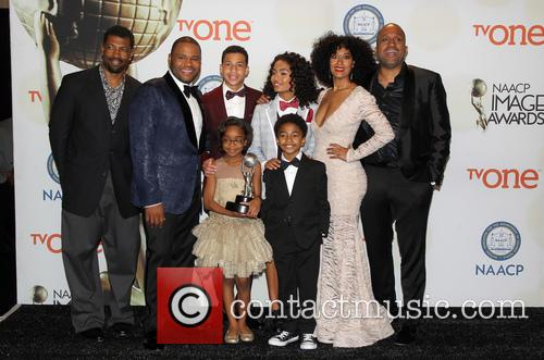 Anthony Anderson, Tracee Ellis Ross, Marcus Scribner, Marsai Martin, Miles Brown and Yara Shahidi 4