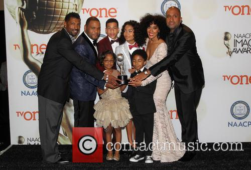 Anthony Anderson, Tracee Ellis Ross, Marcus Scribner, Marsai Martin, Miles Brown and Yara Shahidi 8