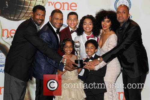 Anthony Anderson, Tracee Ellis Ross, Marcus Scribner, Marsai Martin, Miles Brown and Yara Shahidi 9