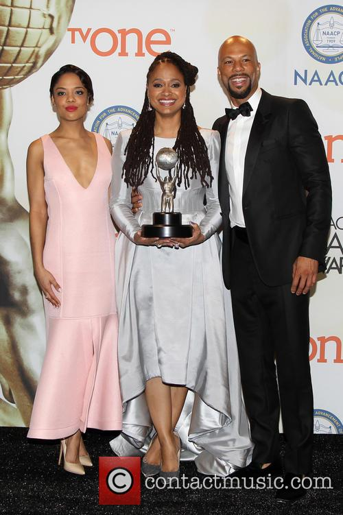 Ava Duvernay, Common and Tessa Thompson 3