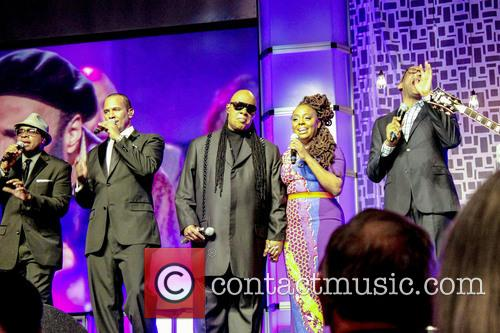 Alvin Chea, David Thomas, Stevie Wonder, Ledisi and Jonathan Butler 1