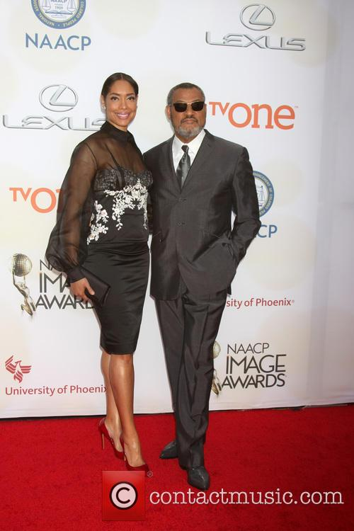Gina Torres and Laurence Fishburne 3