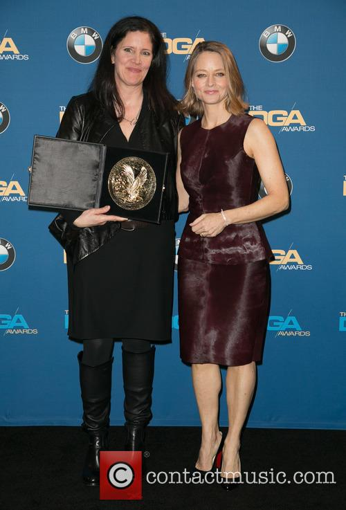 Laura Poitras and Jodie Foster 2