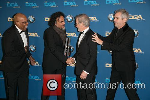 Paris Barclay, Alejandro González Iñárritu, Steven Spielberg and Alfonso Cuaron 2