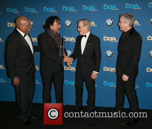 Paris Barclay, Alejandro González Iñárritu, Steven Spielberg and Alfonso Cuaron 4
