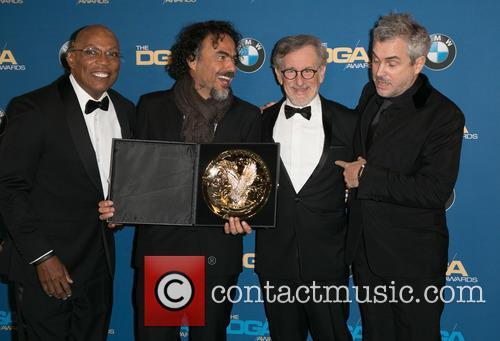 Paris Barclay, Alejandro González Iñárritu, Steven Spielberg and Alfonso Cuaron 5