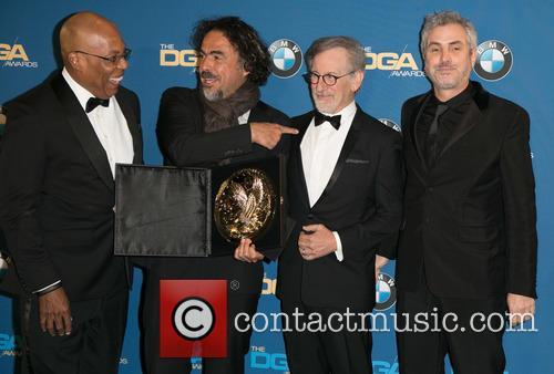Paris Barclay, Alejandro González Iñárritu, Steven Spielberg and Alfonso Cuaron 6