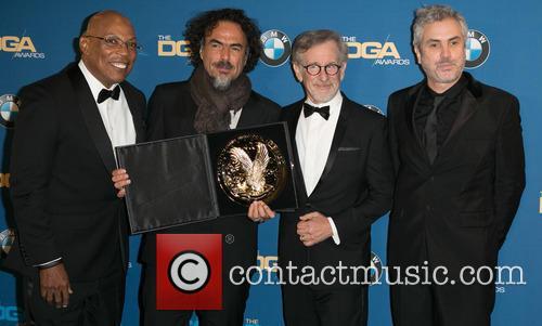 Paris Barclay, Alejandro González Iñárritu, Steven Spielberg and Alfonso Cuaron 8