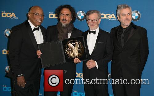 Paris Barclay, Alejandro González Iñárritu, Steven Spielberg and Alfonso Cuaron 9