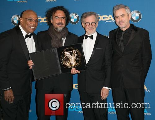 Paris Barclay, Alejandro González Iñárritu, Steven Spielberg and Alfonso Cuaron 11
