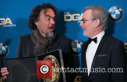 Alejandro González Iñárritu and Steven Spielberg 2