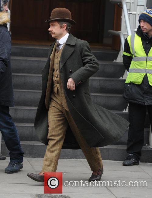 Benedict Cumberbatch and the cast of 'Sherlock' film...