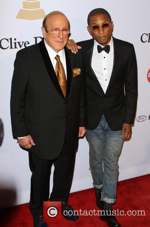 Clive Davis and Pharrell Williams 8