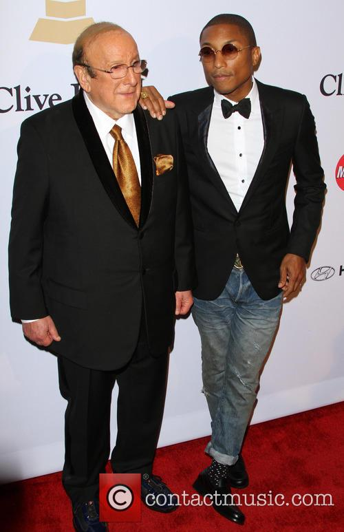 Clive Davis and Pharrell Williams 9
