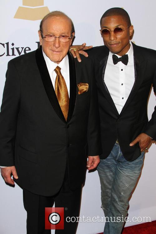 Clive Davis and Pharrell Williams 10