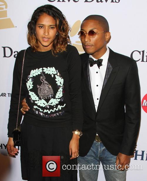Pharrell Williams and Wife Helen Lasichan 4