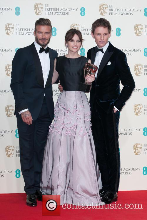 David Beckham, Felicity Jones and Eddie Redmayne 2