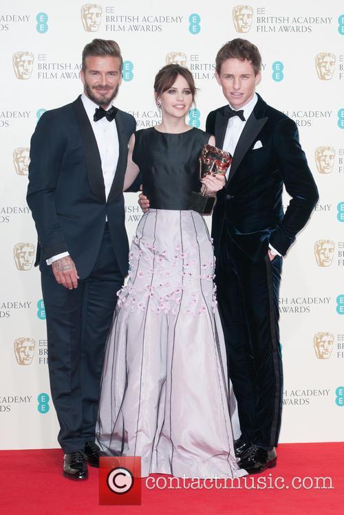 David Beckham, Felicity Jones and Eddie Redmayne 1