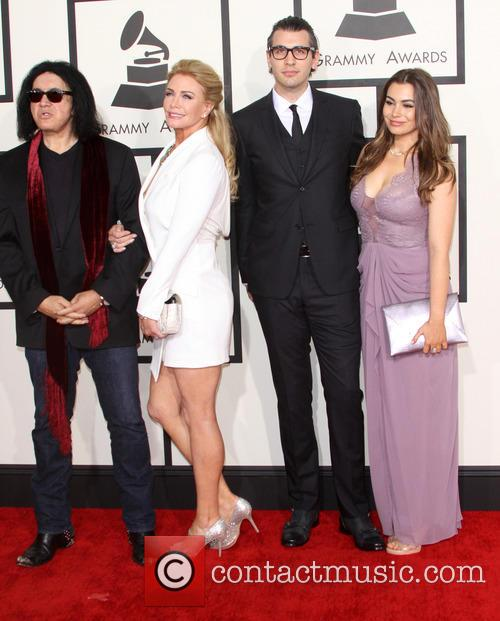 Gene Simmons, Shannon Tweed, Nick Simmons and Sophie Simmons 2