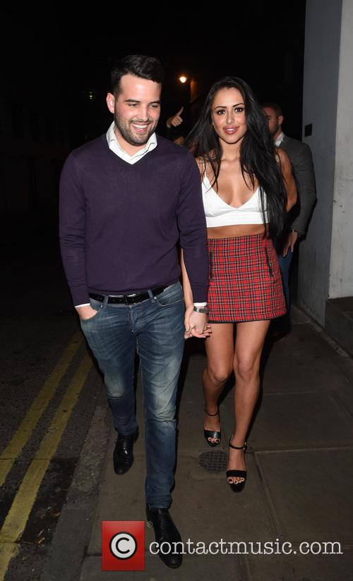 Ricky Rayment and Marnie Simpson enjoy a night...