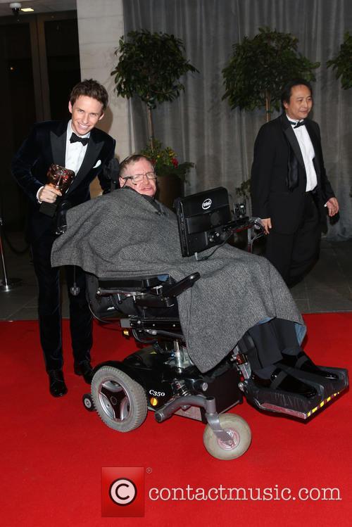 Stephen Hawking and Eddie Redmayne 2