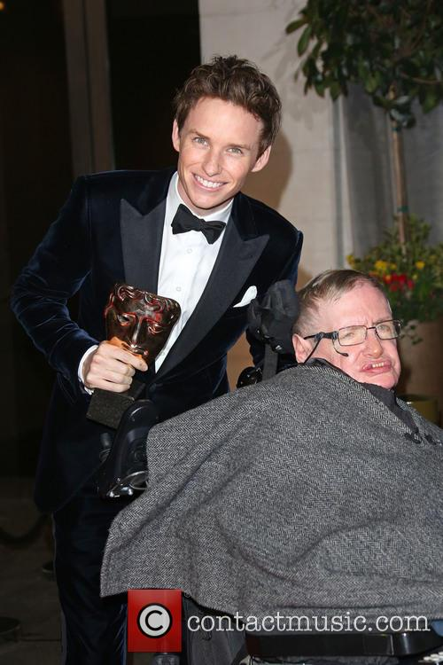 Stephen Hawking and Eddie Redmayne