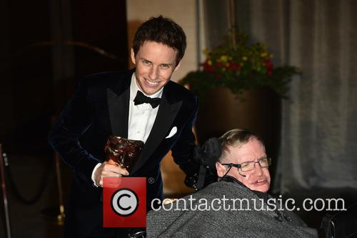 Eddie Redmayne and Professor Stephen Hawking 3