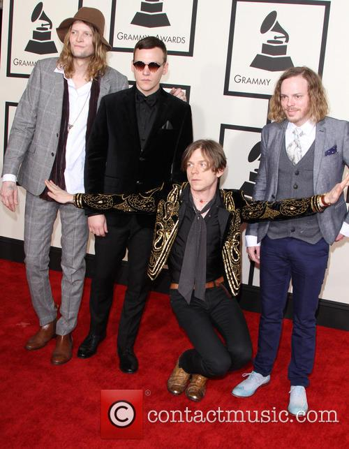 Daniel Tichenor, Brad Shultz, Matt Shultz and Jared Champion Of The Band 'cage The Elephant' 2