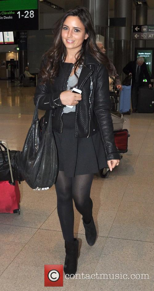 Nadia Forde arriving at Dublin airport