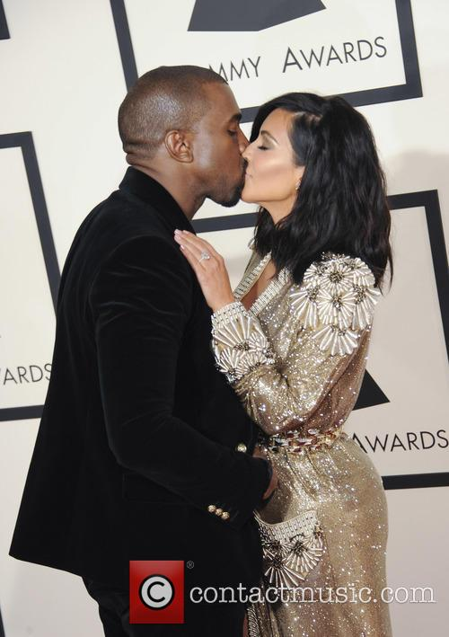 Kim Kardashian and Kenye West 1