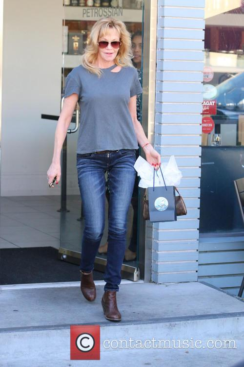 Melanie Griffith was having lunch