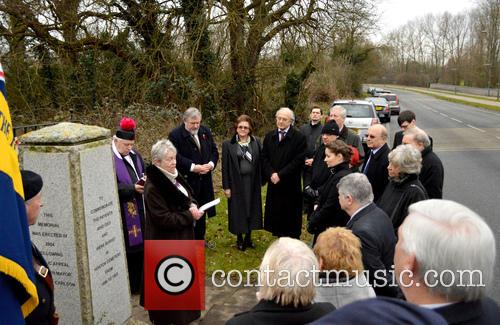 Blessing of unmarked graves at Horton Cemetery
