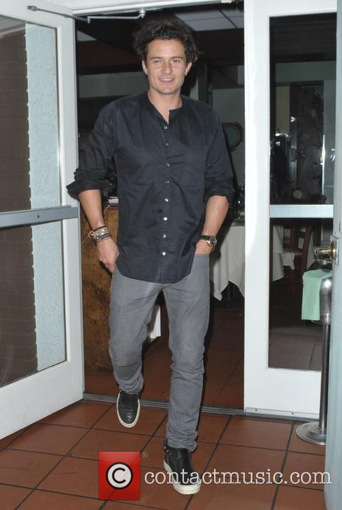 Orlando Bloom leaves Giorgio Baldi restaurant