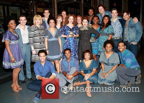 Jarrod Spector, Anika Larsen, Jessie Mueller, Liz Larsen, Scott J. Campbell, Paul Anthony Stewart and Cast 1