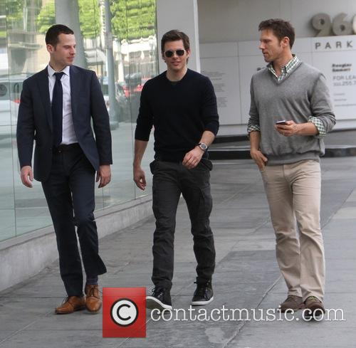 James Marsden goes shopping in Beverly Hills