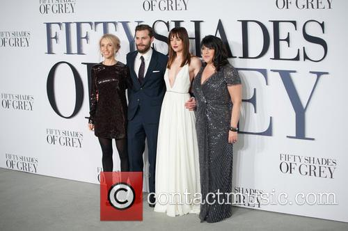 Jamie Dornan, Sam Taylor-johnson, Dakota Johnson and E. L. James