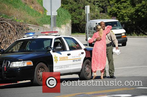Molly Sims gets pulled over
