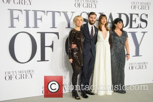 Jamie Dornan, Sam Taylor-johnson, Dakota Johnson and E.l James