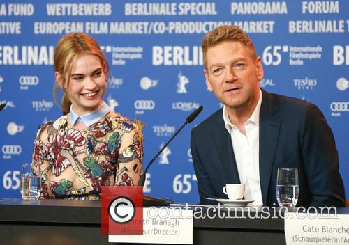 Lily James and Kenneth Branagh 6