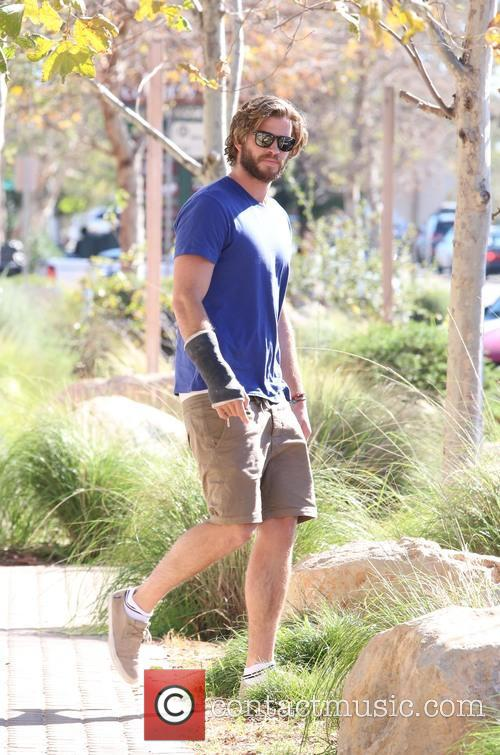 Liam Hemsworth spotted leaving Urban Outfitters in Malibu