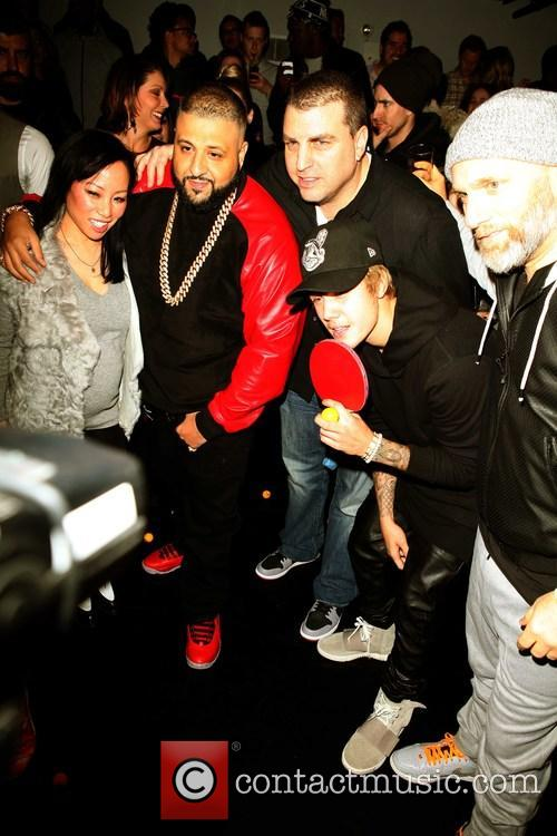 Miss Info, Dj Khaled, Rob Stone, Steve Rifkind and Justin Bieber