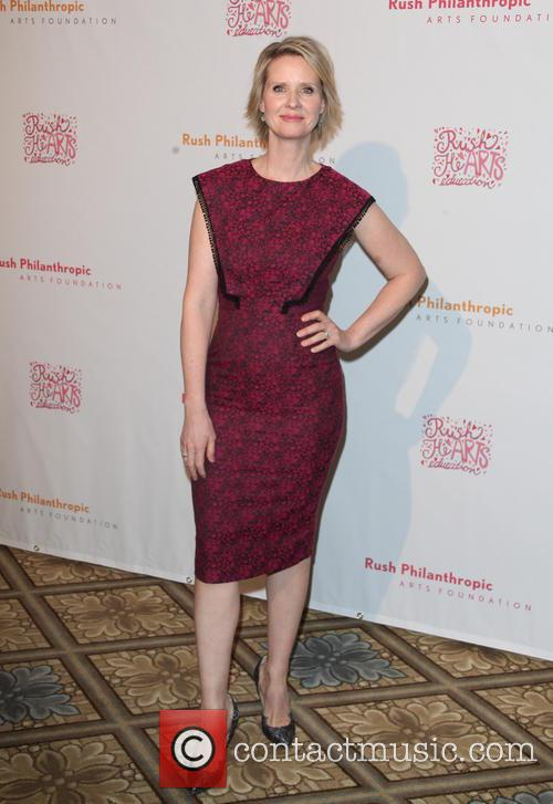 Cynthia Nixon at the Annual Rush HeARTS Education Valentine's Luncheon at The Plaza Hotel - New York City