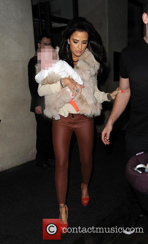 Katie Price and family leaving the Mayfair Hotel