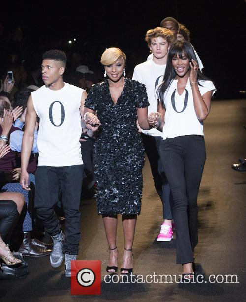Bryshere Gray, Mary J. Blige and Naomi Campbell 2