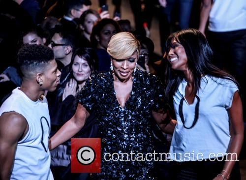 Bryshere Gray, Mary J. Blige and Naomi Campbell 1