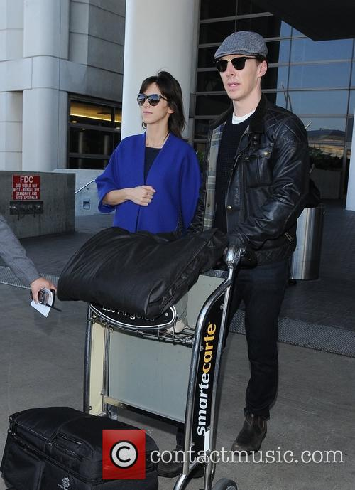 Benedict Cumberbatch arrives at Los Angeles International Airport