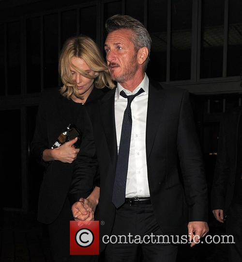 Charlize Theron and Sean Penn seen leaving Royal...