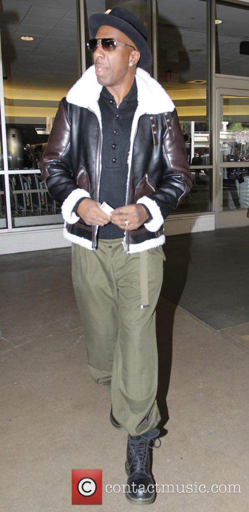 J.B. Smoove arrives at Los Angeles International Airport